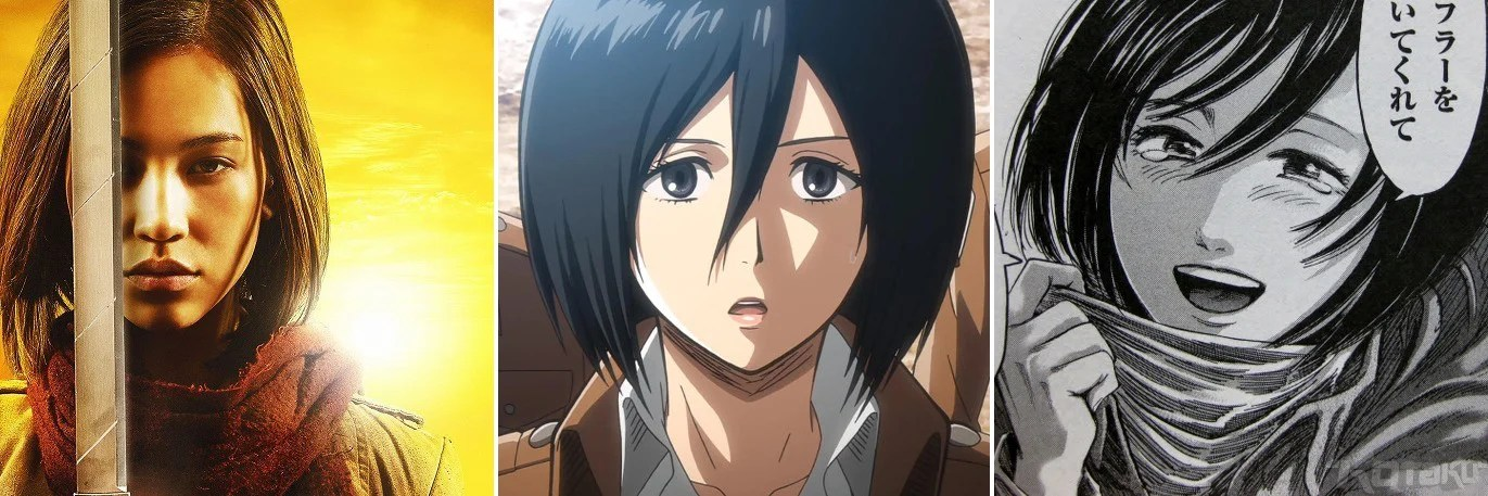 Attack On Titan Movie Stars Vs The Anime And Manga
