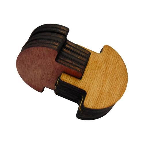 3Dголоволомка деревянная Грибы