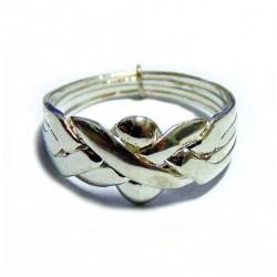 Кольцоголоволомка женское из 4 деталей серебро