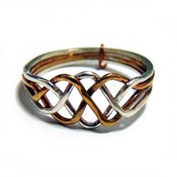 Кольцоголоволомка женское из 4 деталей биметалл