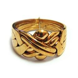 Кольцоголоволомка мужское из 6 деталей бронза