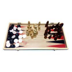 Шахматы, шашки, нарды 39 см (3 в 1)