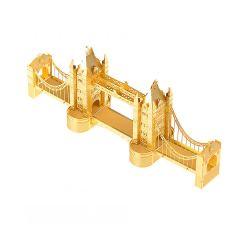3D пазл металлический Tower Bridge Золотой