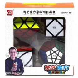 Набор головоломок 4 в 1 QiYi MoFangGe Черный