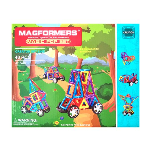 Магнитный конструктор Magformers Машинки 40 деталей