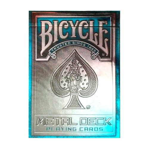 Покерные карты Bicycle Metal Deck Синие