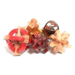 Набор из 5 деревянных 3D-головоломок