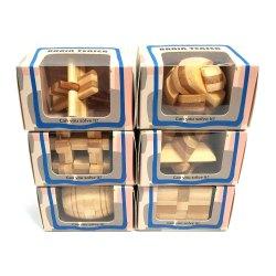 Набор из 6 бамбуковых головоломок