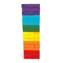 Большая цветная Дженга Tree Toys на 51 брусок