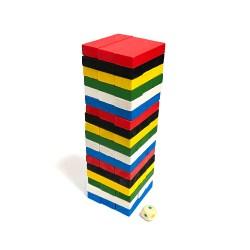 Маленькая цветная Дженга Tree Toys на 51 брусок