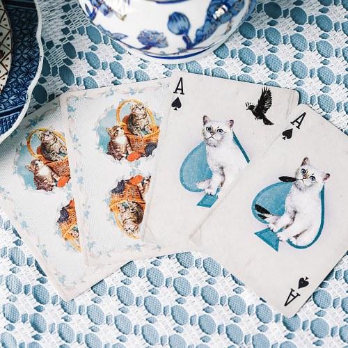 Покерные карты Madison Kittens Синие