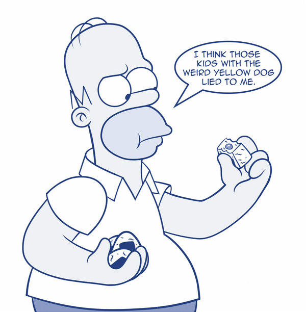 Homer Eats A Jelly Doughnut Brock S Jelly Doughnuts Know Your Meme