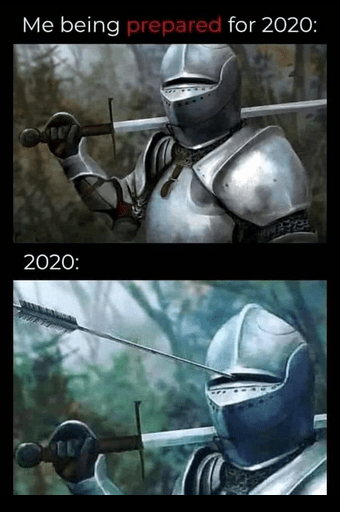 Me being prepared for 2020: 2020: Helmet Animation