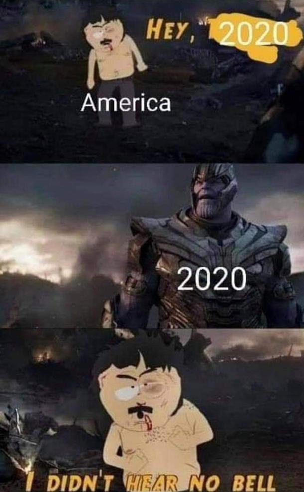 """HEY,""""2020 America 2020 DIDN'T HEAR NO BELL Cartoon"""