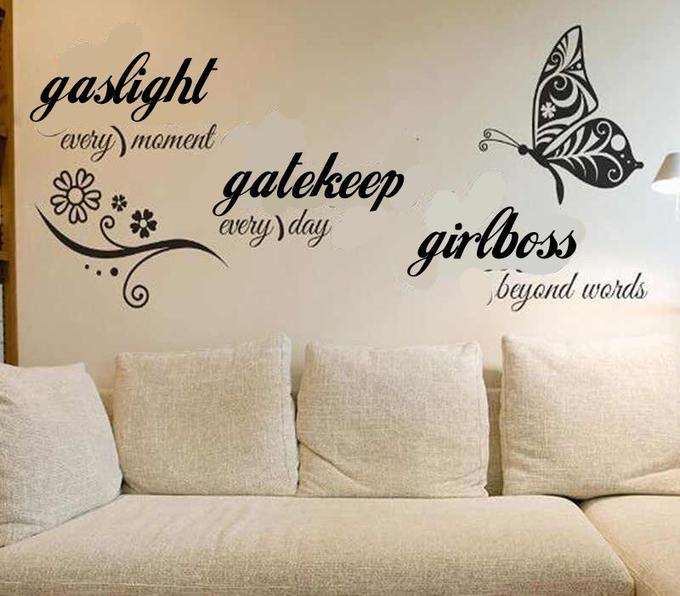 gaslight avery) mament gatekeep aery day girlbess beyond words Furniture Couch White Butterfly Pollinator Rectangle Comfort Wall sticker Font Wood Grey Insect Living room Line studio couch Arthropod Art Sofa bed Poster Pillow