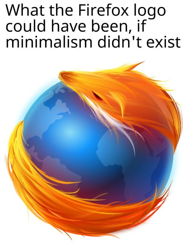 What the Firefox logo could have been, if minimalism didn't exist Organism Font Art