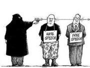 Afbeeldingsresultaat voor hate speech cartoon