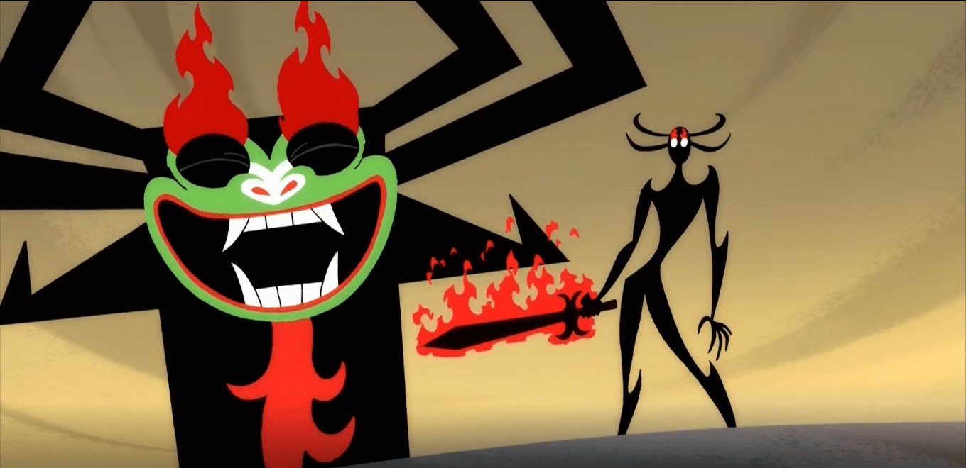 Aku and his possessed daughter, Ashi