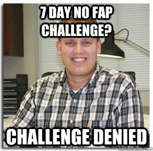 No fap challenge