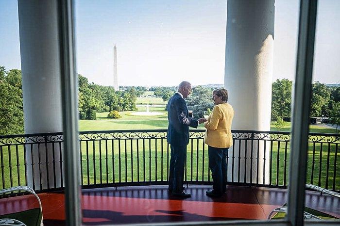 Президент США Джо Байден і канцлер Німеччини Ангела Меркель під час зустрічі в Білому домі, Вашингтон, 15 липня 2021 р.
