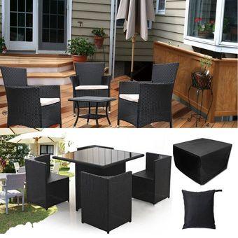 cubierta de lluvia de muebles de patio de jardin al aire libre