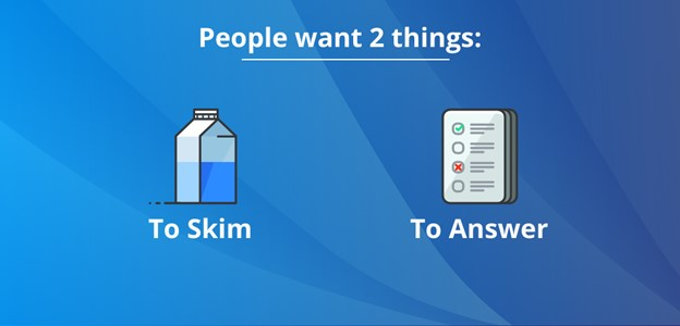 two things readers want from content