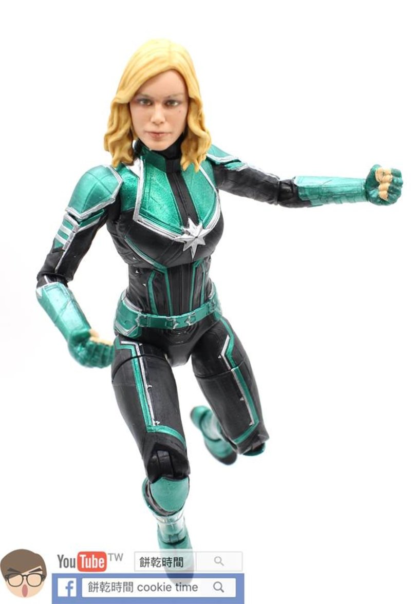 "captain marvel movie 6"" marvel legends binary & captain marvel"