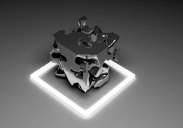 Frederik de Wilde'ın 3D modeli, kuantum dalgalanmalarını ölçen cihazlardan canlı bir veri beslemesi kullanarak oluşturuldu