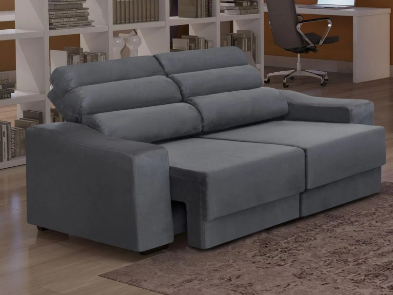 Sofa de canto retratil magazine luiza for Sofa 03 lugares retratil e reclinavel