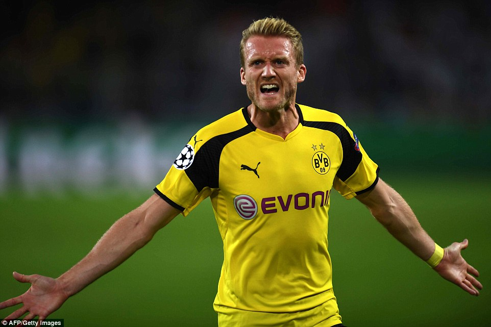 Trailing 2-1 and with just three minutes left on the clock,Andre Schurrle stunning strike secured a draw for the home side