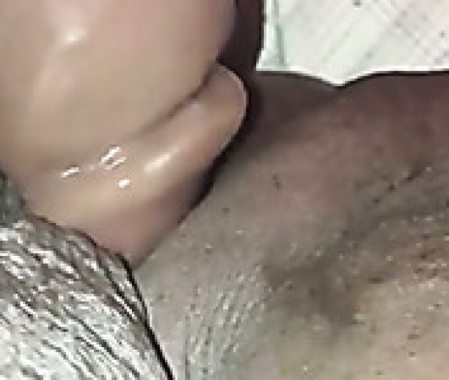 Plunging My Horny Black Moms Wet Pussy In A Missionary Position
