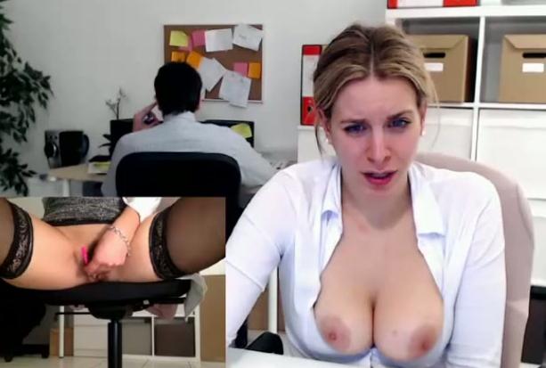 Secretary Masturbating