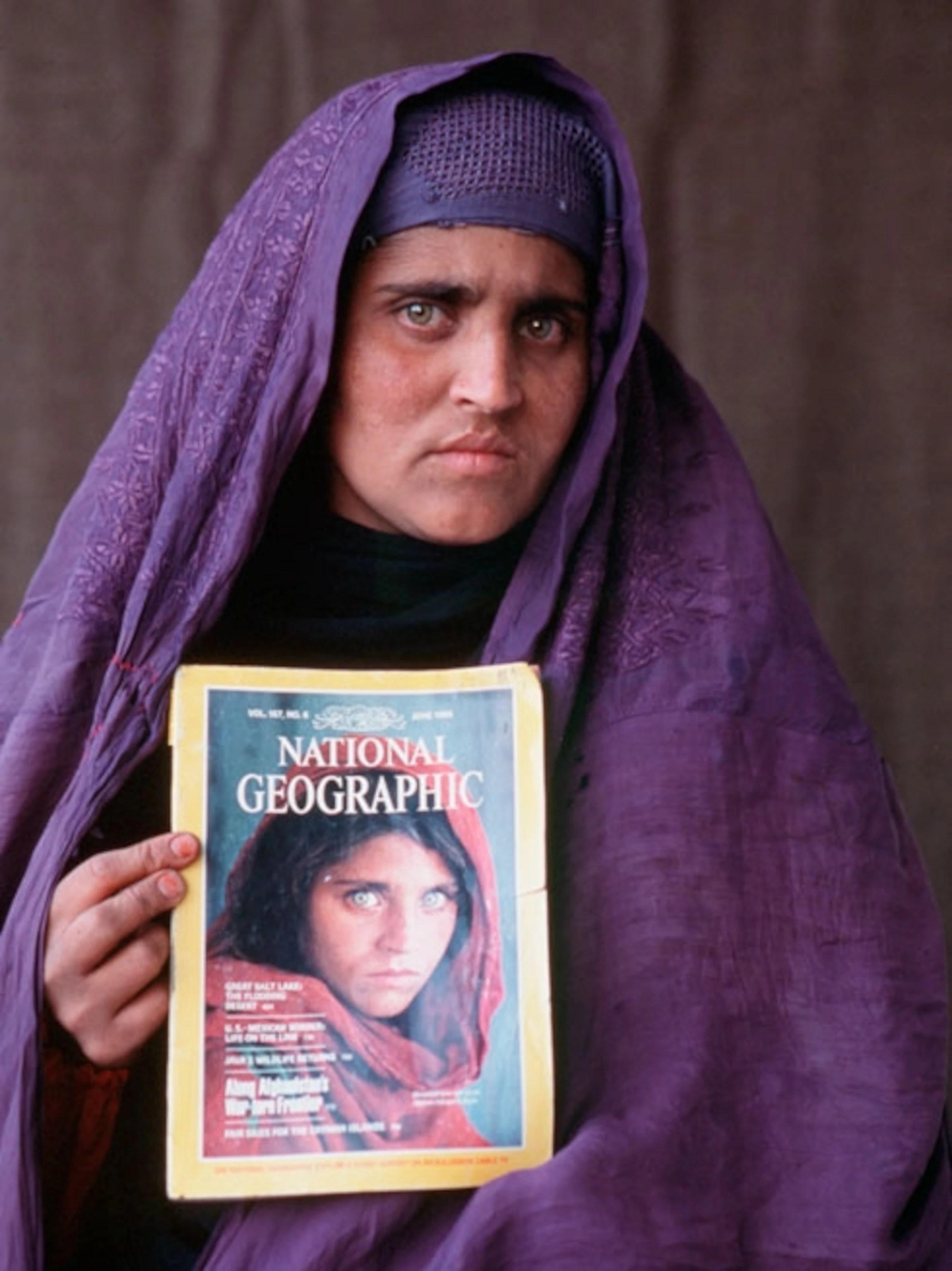 Policie po muži původně pátrala. The Afghan Girl A Life Revealed