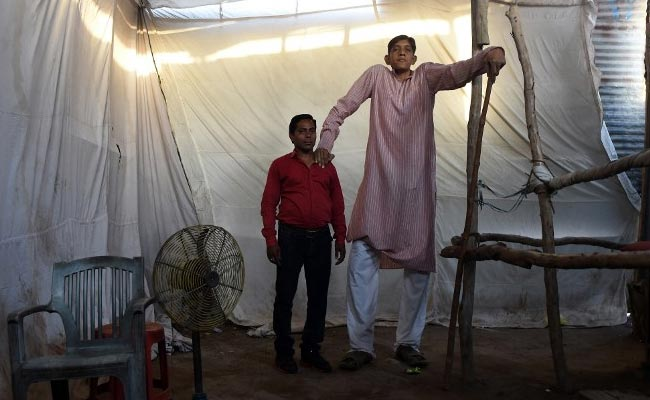 At 8.1, He Claims to be India's Tallest Man. But Life Isn't Easy