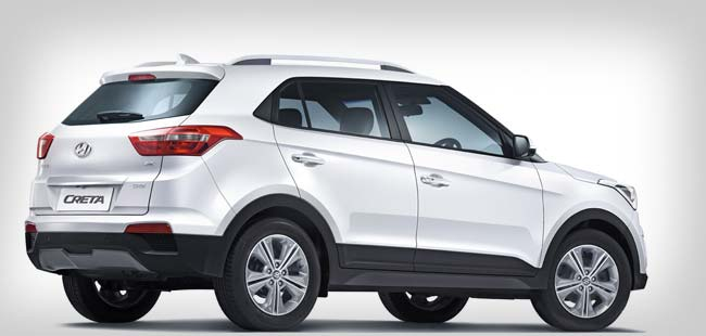 Hyundai Creta rear-side view