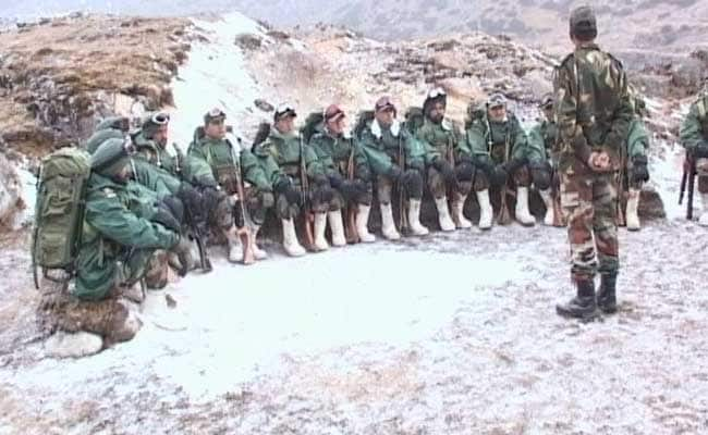Image result for pics of indian army on china border