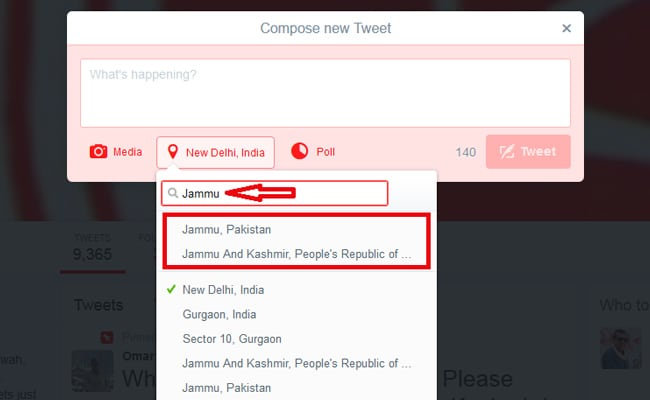 ट्विटर को समझाइए, जम्मू-कश्मीर भारत का हिस्सा है, पाकिस्तान या चीन का नहीं...