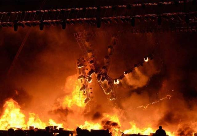 Image result for stage with fire