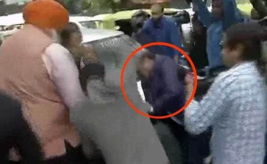 On Camera, BJP Legislator Beats Up Man At JNU Court Hearing