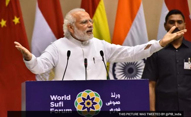 PM Modi inaugurated the World Sufi Forum, terrorist attack alert