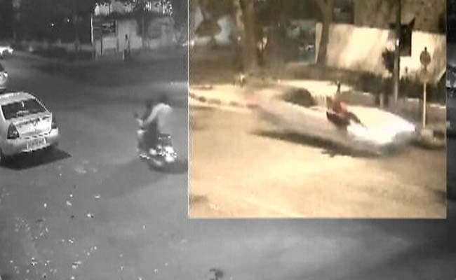 On Camera, How Class 12 Student Driving Mercedes Hit Man Who Died