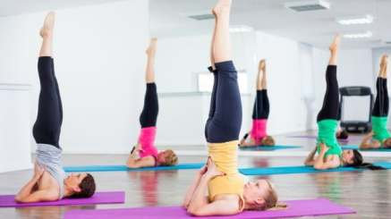 Image result for Shoulder Stand (Sarvangasana) exercise