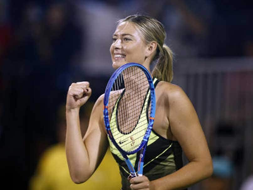 Image result for Smiling Sharapova plays Las Vegas charity event
