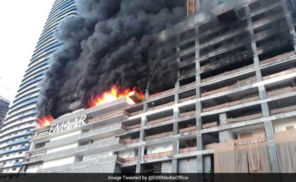 Fire Erupts In Residential Complex Near Dubai's Burj Khalifa