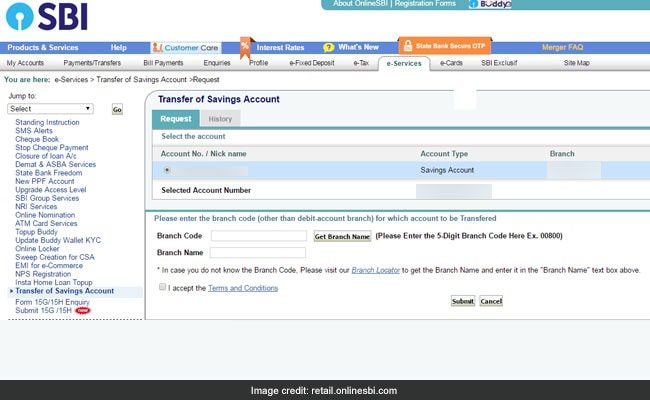 sbi account transfer 2
