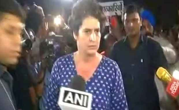 'People Who Are Here To Push, Go Home': Priyanka Vadra At Rahul Gandhi's Midnight March