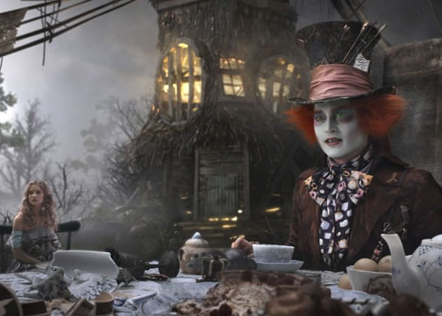 Johnny Depp's Mad Hatter with Alice