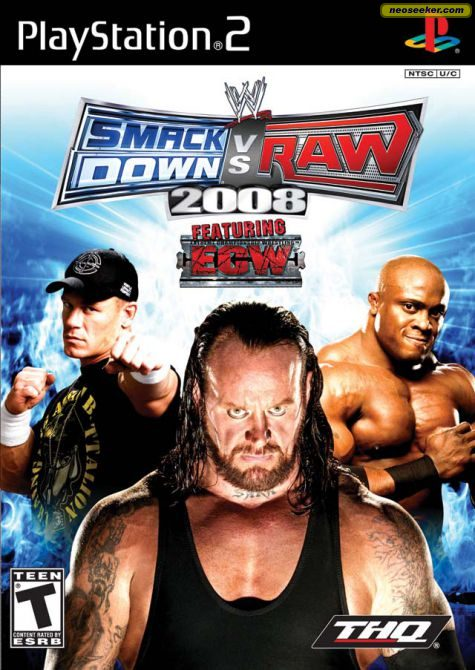 WWE SmackDown vs. RAW 2008 PS2 Front cover