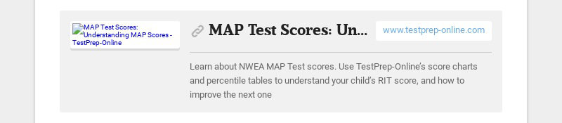 MAP Test Scores: Understanding MAP Scores - TestPrep-Online www.testprep-online.com Learn about...