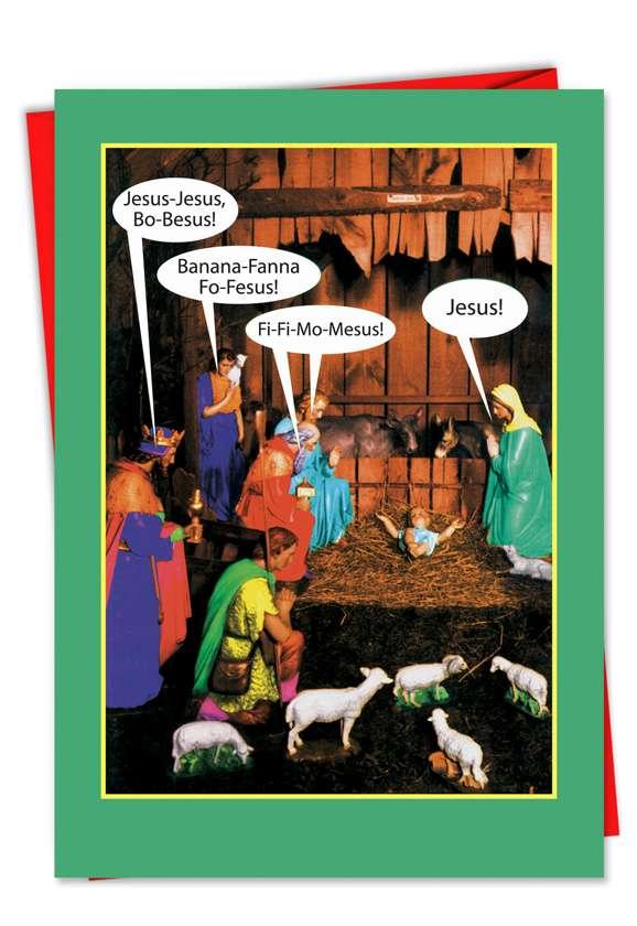 JesusBoBesus Funny Christmas Greeting Cards